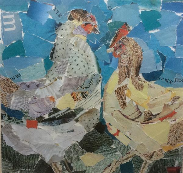 Two chickens by Helen Norman