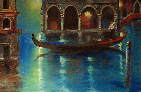 Moonlight Gondola by Martin Ulbricht