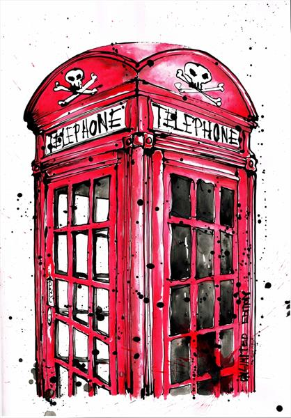 skull and crossbones phonbox by Keith Mcbride