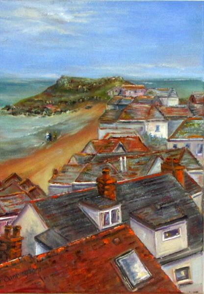 Rooftops in St Ives by Patricia Cunningham