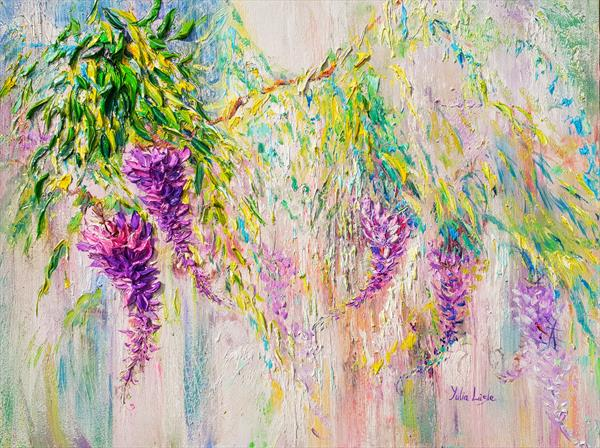 Air Of Movement. Wisteria. by Yulia Lisle