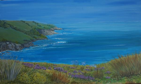 Flowers On The Coast by Janet Davies