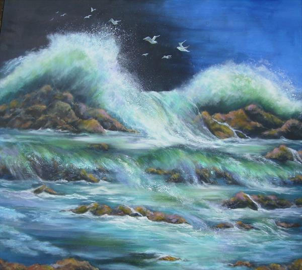 Crashing waves by Jill Lloyd