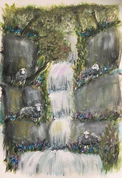 Lake District-at home with the Herdwicks by Damion  Maxwell