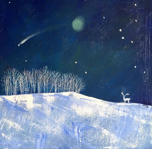 Shooting Star - a frosted landscape  by Sarah Gill