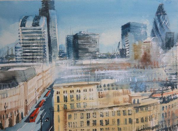 London rooftops (from Monument) by Roberto Ponte