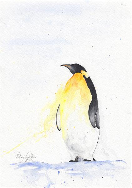 Gazing Penguin by Kelsey Emblow