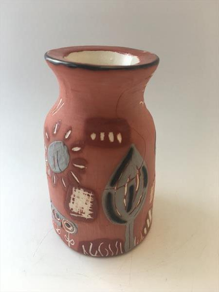 Terracotta Vase Art by Julie Anne