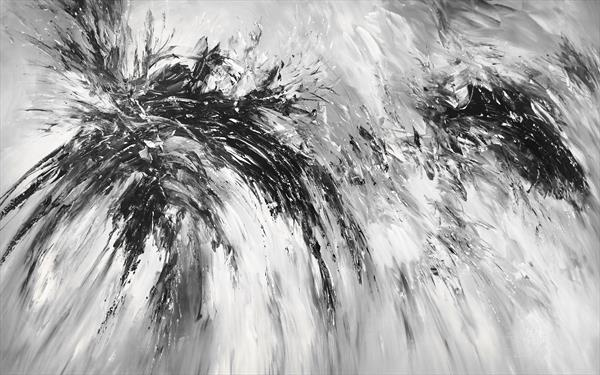 Black And White Abstraction XXXL 1 by Peter Nottrott