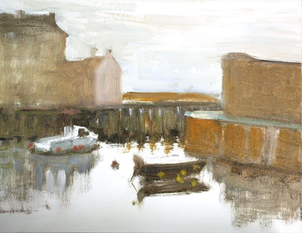 Grey skies at West Bay by Michael Parkinson