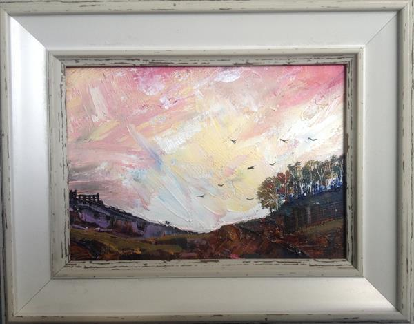 The Gothic Moorland at Twilight ( framed original) by Sarah Gill