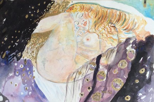 'DANAE' after Gustav Klimt by Beth Neal