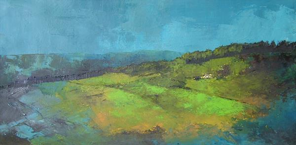 Landscape in blue by Gary Kitchen