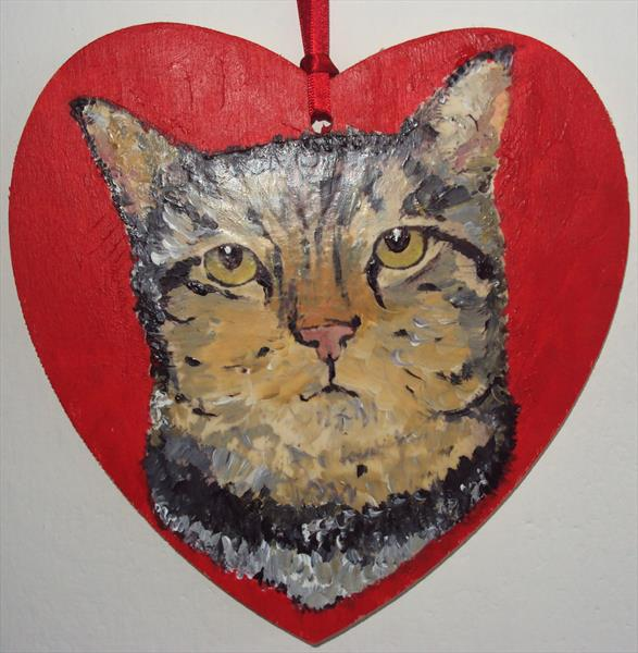 Tabby Cat love by Teresa Tanner