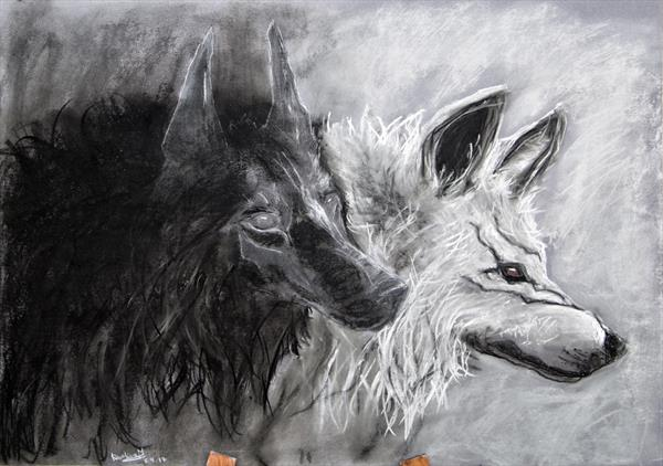wolves by Caroline  Melerska