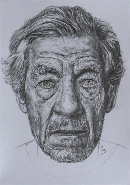 Ian McKellen by Mark Barrable
