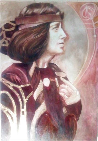 Portrait of Margaret MacDonald Mackintosh  by Fae Donnelly