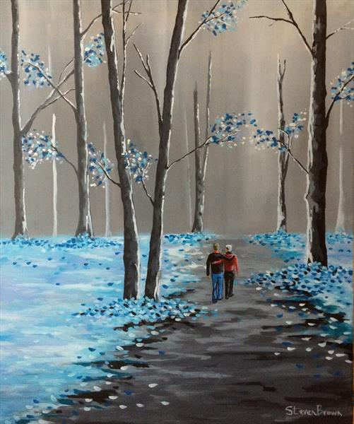 Cool blue forest