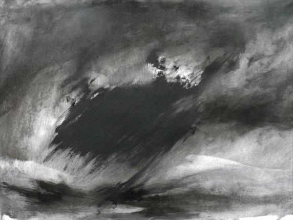 Abstraction in Monochrome' Light in the Darkness 6 ' by Wendy Hyde