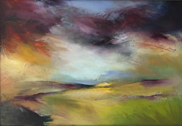 Passing storm on the moors by Elspeth Milnes