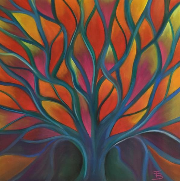 Rainbow Tree of Life by Tiffany Budd