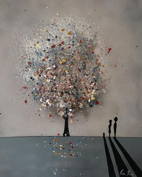 The wishing tree collection-canvas II by Pippa Buist