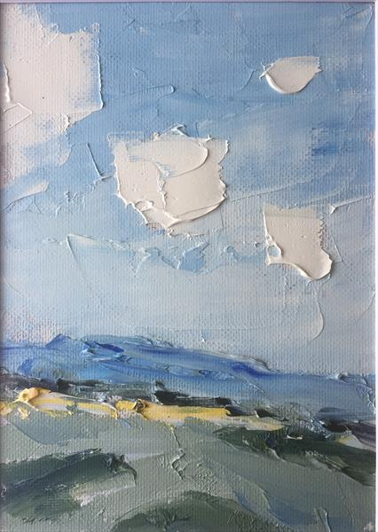 Blue Downland, Late Summer by Alan Daysh