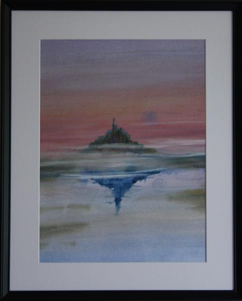 MONT St MICHEL AT SUNSET by Victoria Meering