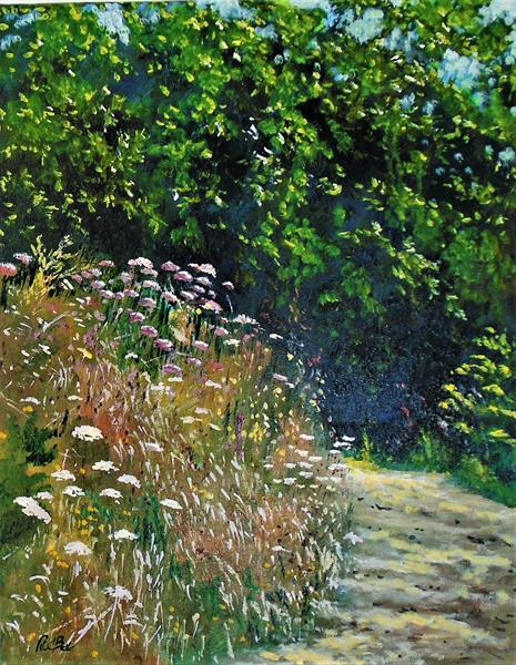 Summer path into the woods by Rod Bere