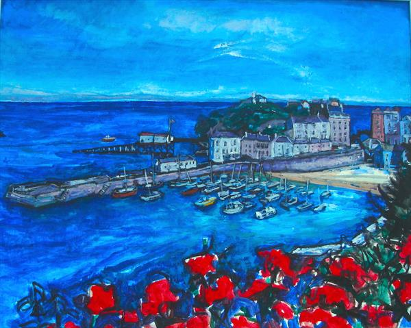 Tenby Harbour Wales by Patricia Clements