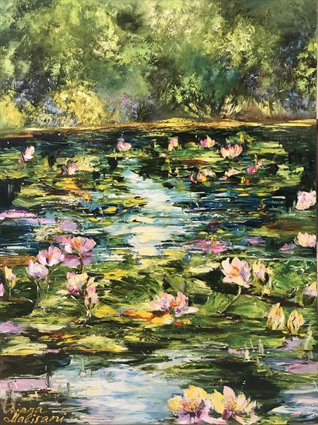 Pond With Water Lilies by Diana Malivani