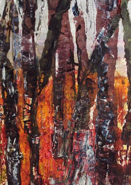 Abstract Birches Study 2