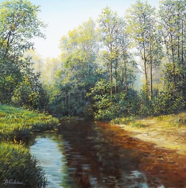 Forest Brook by Oleg Riabchuk