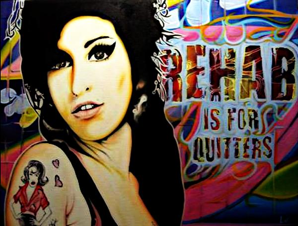 Amy Winehouse (Rehab Is For Quitters) Limited Edition by Livi Maylin