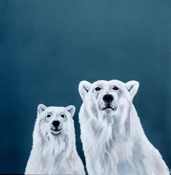Watch Over You: Polar Bear portrait by Victoria Coleman