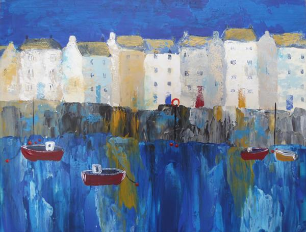 Evening Harbour by Elaine Allender