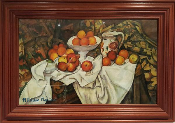 Still Life With Apples And Oranges After Cezanne by Mark Ritchie