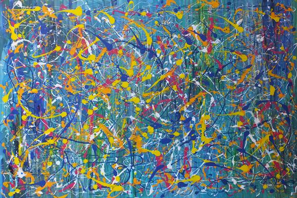 Artistic Brilliance (Extra Large Contemporary Art) by Hester Coetzee