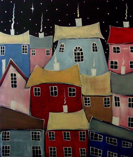 houses and more houses by Yvette Metcalf