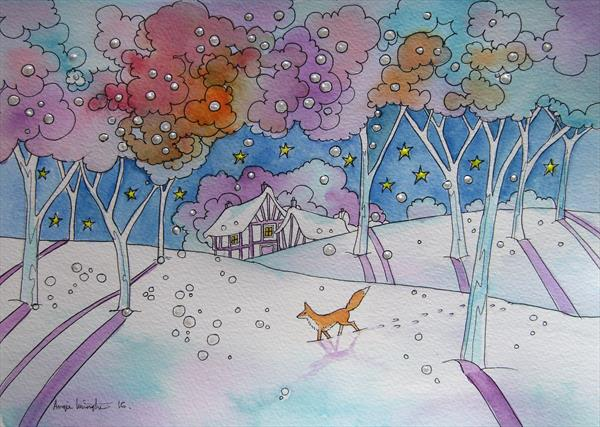 Wandering Fox 2 by Angie Livingstone