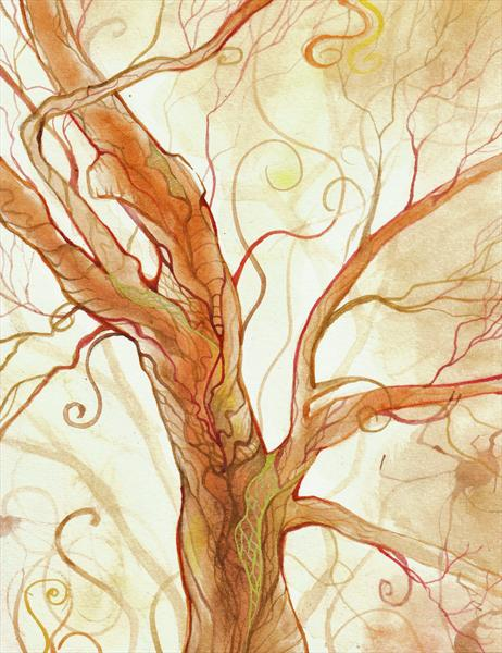 Autumn Tree by Hannah Cushing