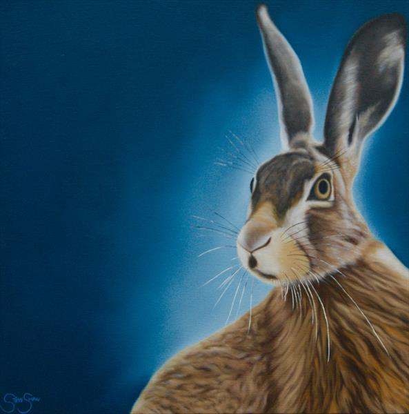 Moonlit Hare by Steven Shaw