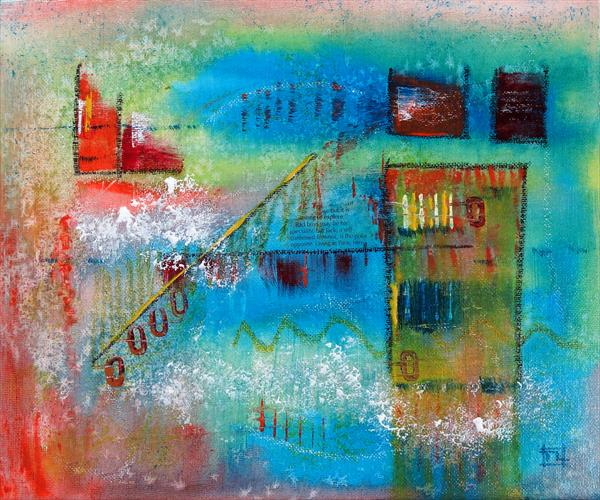 Reflections of a City Life - Abstract by Tony Lilley