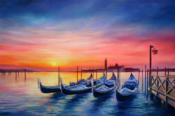 Magical Sunset in Venice