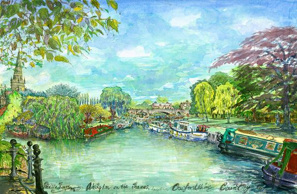 ABINGDON on The THAMES, ( OXFORD COUNTRY ) by Patricia Edith Mary Thompson