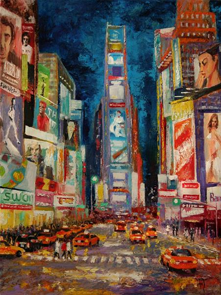 Lights of Times Square by Yary Dluhos