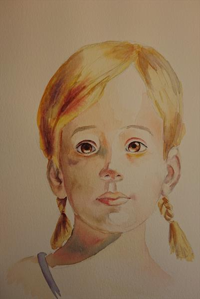 Tinkerbell Study A3. in the image of Ali Cavanaugh, little girl portrait by Elena Haines