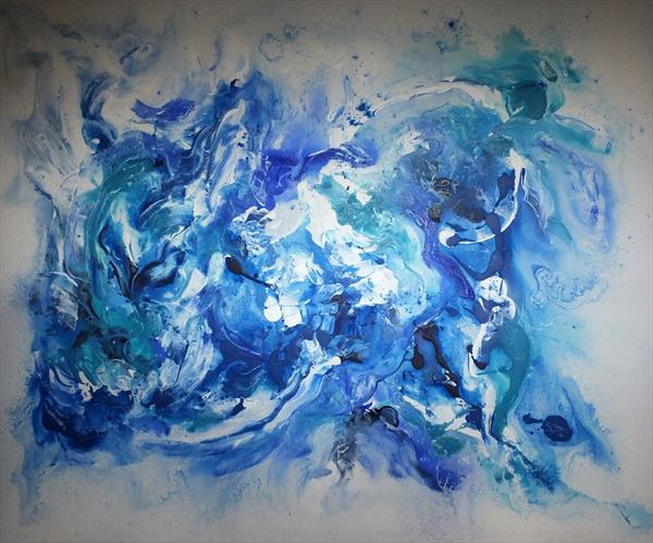 Harmoniously Blended (Very Large Modern Abstract Art) by Hester Coetzee
