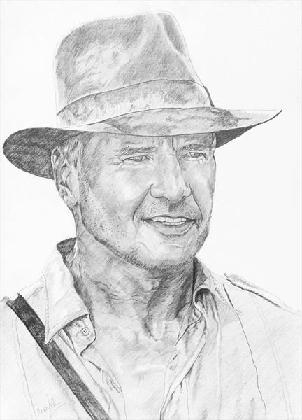 Indiana Jones/ Harrison Ford by Mike Isaac