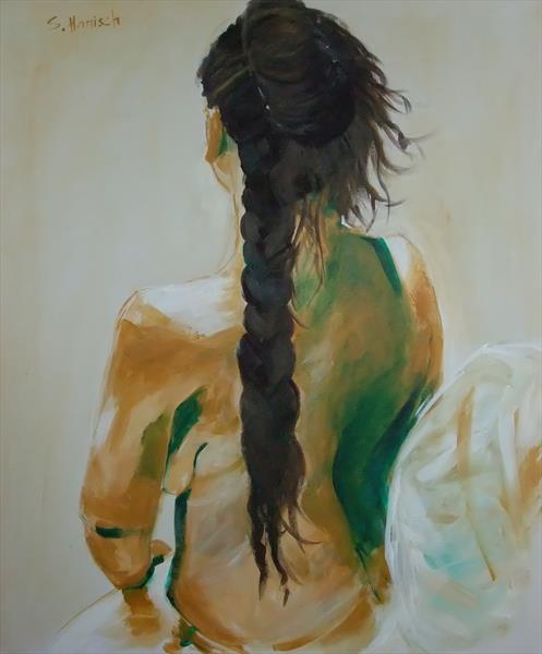 Girl with plated hair by Sandra Hanisch